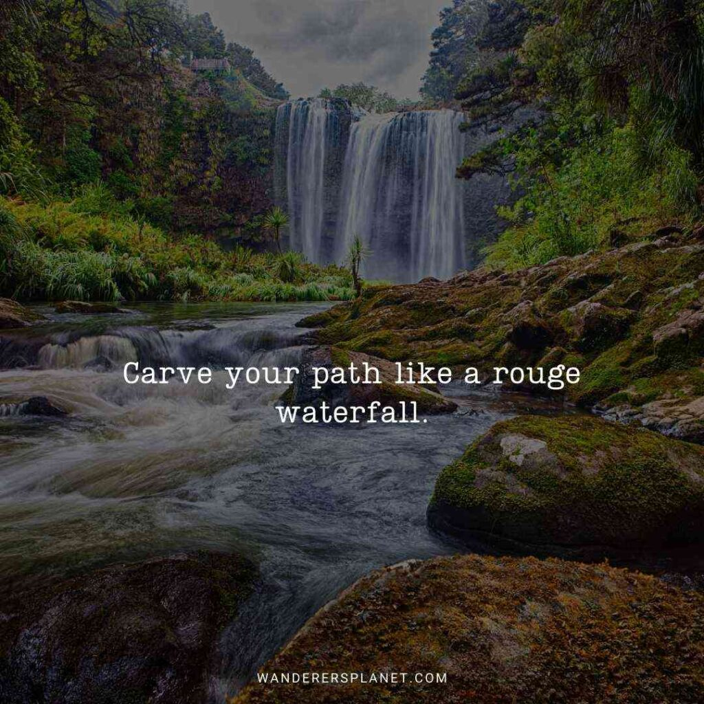 quotes about waterfalls and life